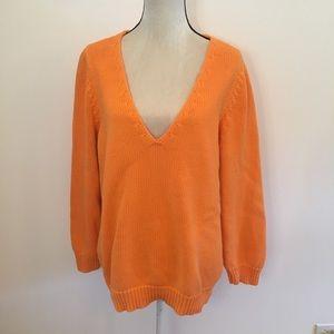 Lane Bryant orange v-neck sweater size 22/24